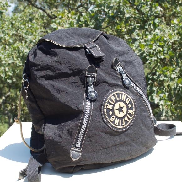 Kipling Handbags - Kipling Fundamental Drawstring Black Backpack